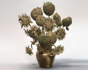 "3D printed sculpture of Van Gogh's ""Sunflowers""-designboom.com"